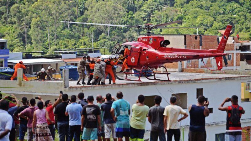 巴西里约洪灾 违建公寓倒塌酿5死9伤(视频)