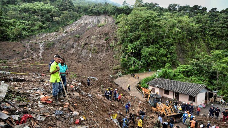 持续数周暴雨 哥国土石流至少14死5伤