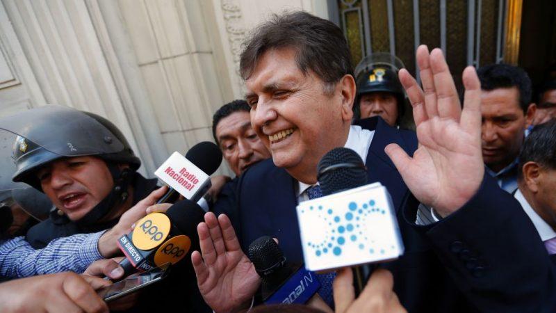 贪腐面临监禁 秘鲁前总统贾西亚开枪自杀