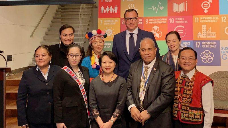 出席聯合國原住民論壇代表齊聚經文處 分享如何保存原住民傳統