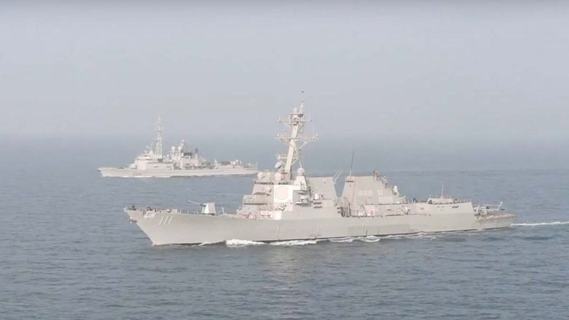 """贸战硝烟刚起 中美南海又爆军舰""""对峙"""""""
