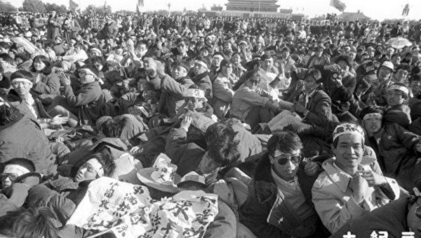 組圖:千張六四新照面世 學生絕食抗議 (5)