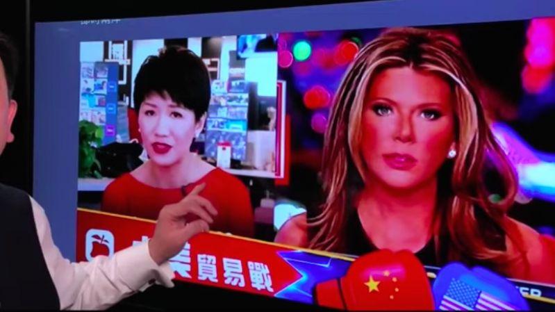 《石涛聚焦》美中女主播隔空开战-王沪宁逼习近平撞崖之途