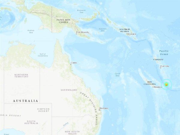 6.8地震袭南太平洋新喀里多尼亚岛 暂无海啸警报