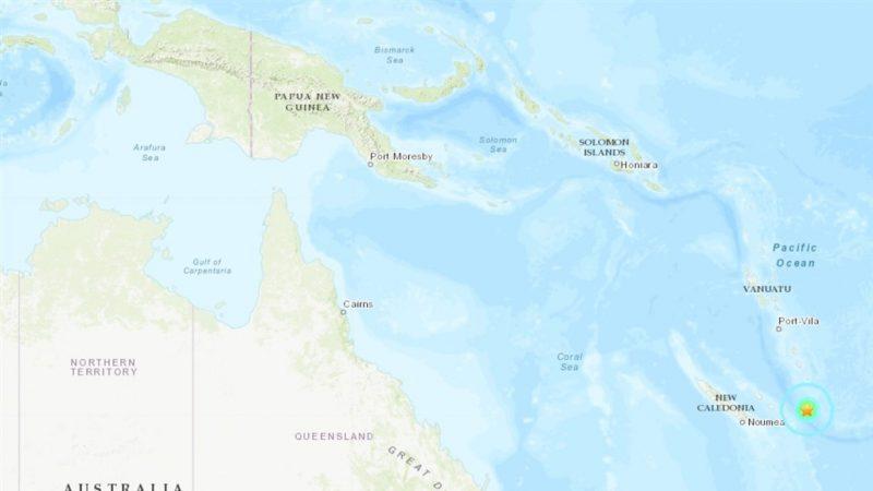 6.8地震襲南太平洋新喀里多尼亞島 暫無海嘯警報