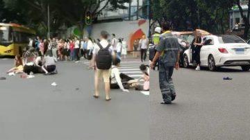 广州重大车祸 奔驰女撞伤13人包括港粤新闻官