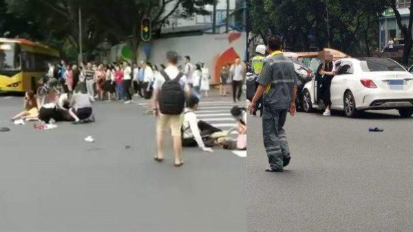 廣州重大車禍 奔馳女撞傷13人包括港粵新聞官