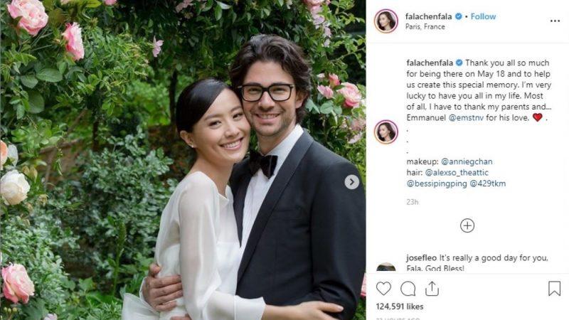 新婚陈法拉感谢丈夫给予她的爱