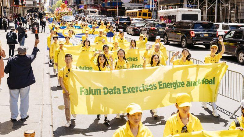 慶世界法輪大法日 紐約逾萬人大遊行 民眾震撼(組圖1)