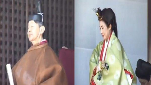 首度宫中祭祀 德仁雅子穿上传统服装现身