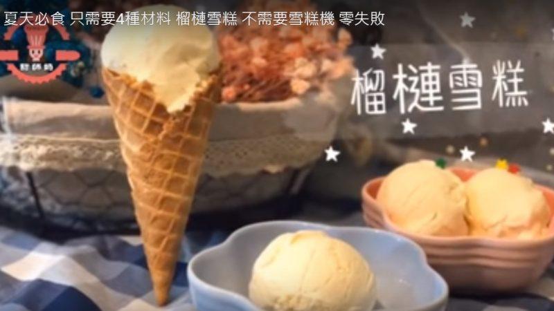 自製榴槤雪糕 零失敗 不需要雪糕機(視頻)