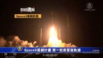财经速瞄:SpaceX星链计划第一批卫星进轨道 737MAX8最快6月下旬恢复使用