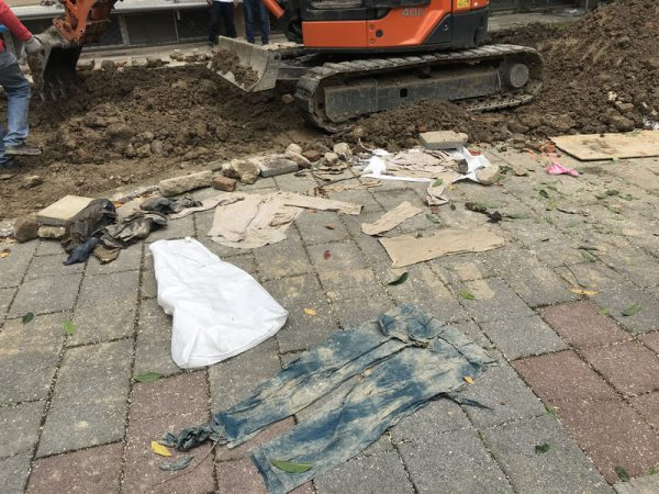 疑不明骨骸惊现北市国中 再开挖找到衣物