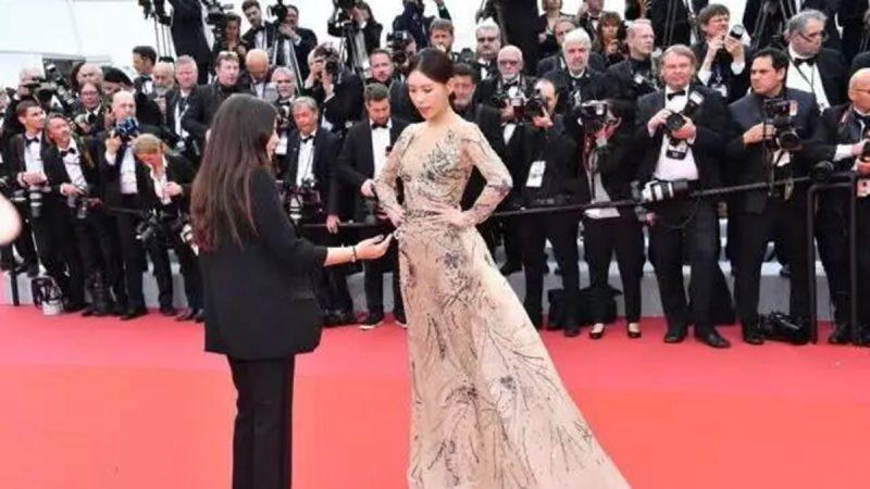 曝中国女星蹭戛纳红毯赖著不走 被保安驱赶