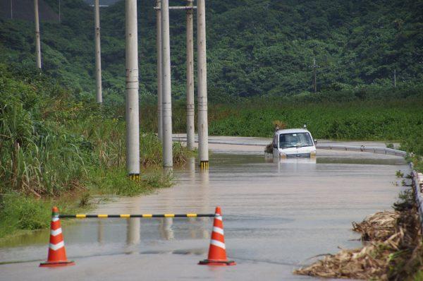 50年一遇强降雨 日本与那国岛民众措手不及