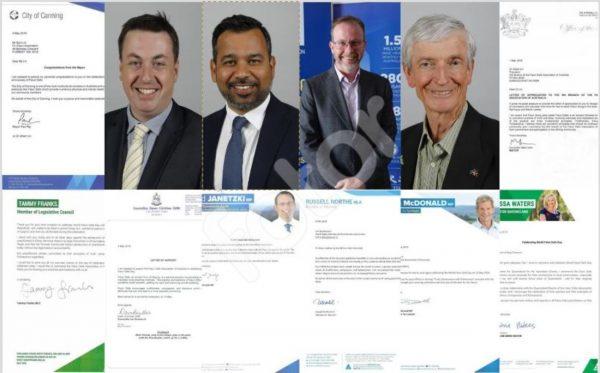 澳大利亚各级政要褒奖祝贺世界法轮大法日(二)