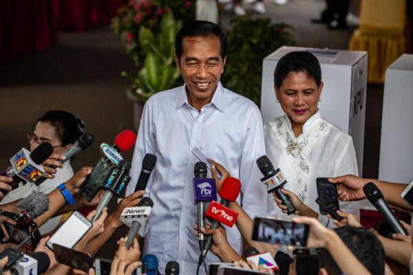 印尼总统大胜对手10.8个百分点 连任成功