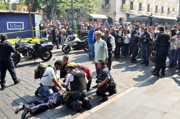 疑争广场地盘 墨西哥2工会领袖命丧枪下(视频)