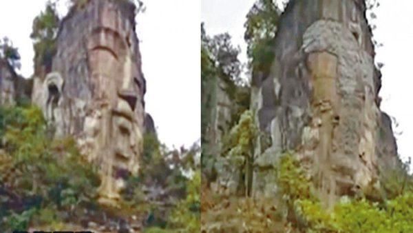 中共毁佛像又一招 贵州大佛头像被水泥填平