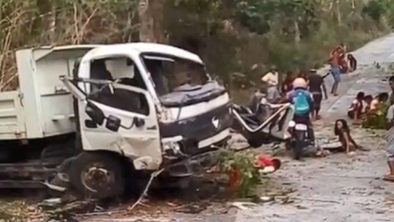 准新娘魂断公路 菲律宾砂石车翻覆酿13死