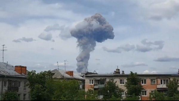 俄罗斯弹药厂大爆炸 蕈状云窜天际酿79伤