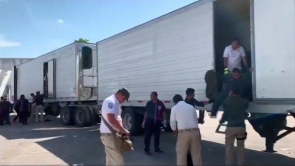 躲4輛卡車貨櫃 墨西哥查獲782名非法移民