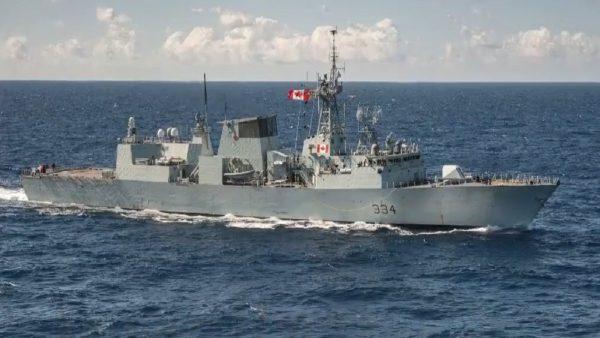 挑衅?中共战机低飞掠过加拿大军舰
