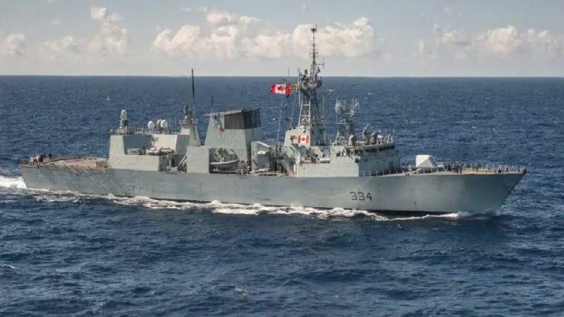 挑釁?中共戰機低飛掠過加拿大軍艦