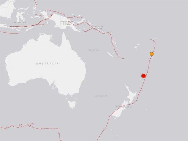 南太平洋7.4强震深度34公里 一度发海啸警报