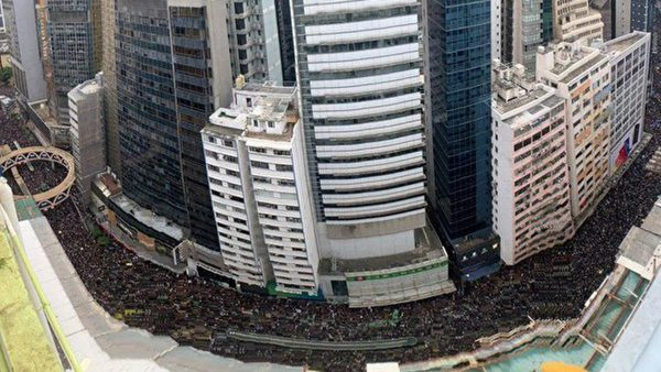 150万港人反送中大游行(高空俯览视频)