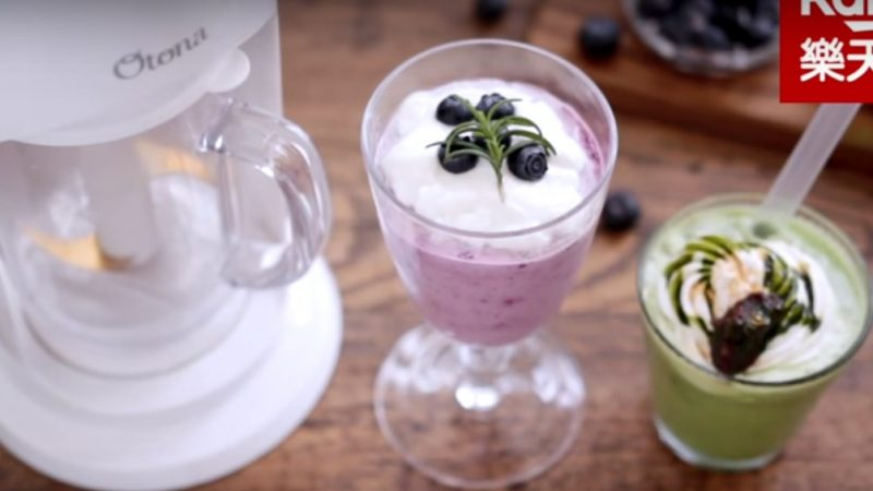 抹茶冰沙拿鐵、藍莓慕斯 夏天清爽美味(視頻)