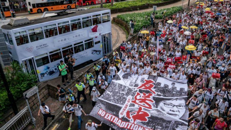 香港游行示威持续延烧 广东也开始了