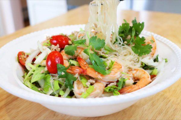 【美食天堂】泰式虾粉丝沙拉 | 夏日必吃家常菜 |美味家常料理食谱 一学就会