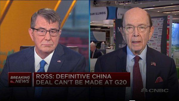 美商务部长称G20不会有协议 暗示中共无路可走