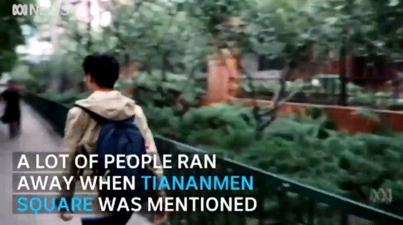 恐怖籠罩?外媒北京街訪六四事件 年輕人一聽即跑開