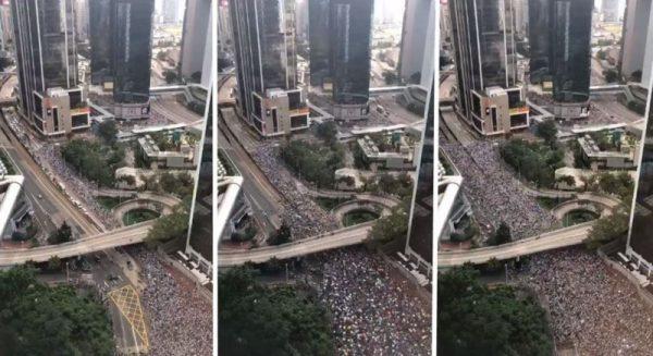 缩时视频震撼全球 百万港人反送中大游行(视频)
