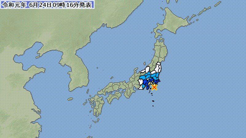 日本千葉縣5.5地震 東京明顯搖晃