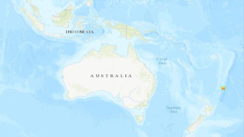 新西蘭克馬得群島6.8地震 深度10公里