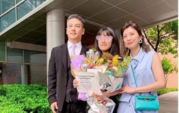 与前夫孙志浩合照 贾静雯:女儿最棒的毕业礼