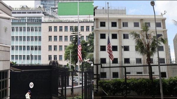 六四30周年 多地美驻华使馆下半旗