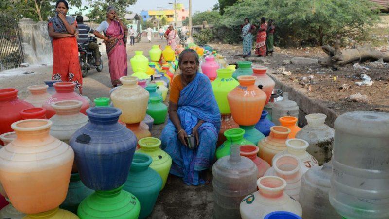 印度清奈水庫見底 460萬人陷缺水危機