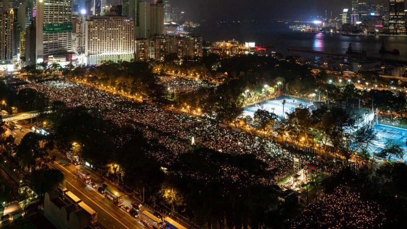 香港纪念六四30周年 18万人逼爆维园场面震撼(多图)