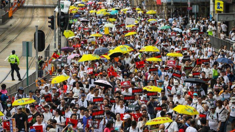 """章天亮:香港百万人大游行反对""""送中条例"""" 谁才有可能破坏""""一国两制""""?"""