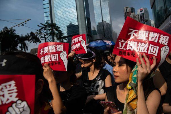 林鄭致歉仍拒撤回 中共無視民意:暫緩非放棄