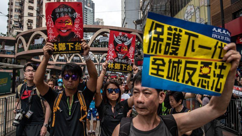 中南海慌了?法媒:香港翻天覆地 中国一片死寂