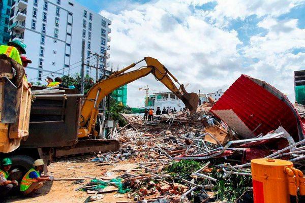 柬埔寨中资建筑工地突倒塌 酿3死18伤传30人被埋
