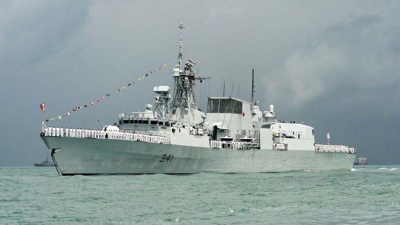 加国军舰直穿台海 中共海警低调跟随未提抗议