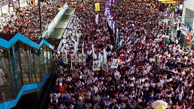 香港总动员 12日全港罢课罢工罢市抗恶法