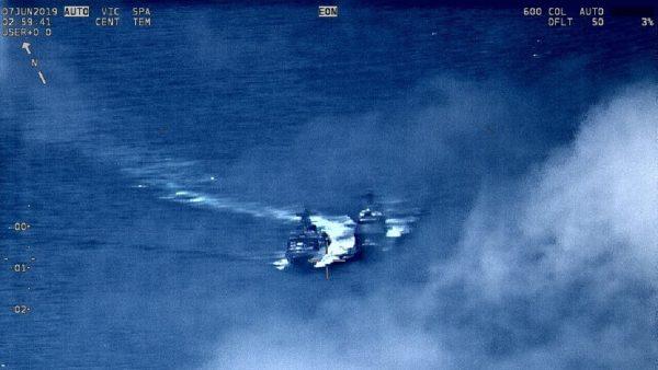 美俄军舰东海险相撞 美公布视频斥俄挑衅