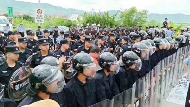 视频:港台示威震慑中共?粤万人堵路逼停政府项目